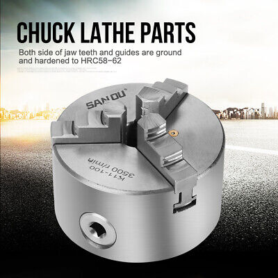 4  3-Jaw Kits Self-Centering Metal Lathe Chuck With Extra Jaws Turning Machine • 41.96£