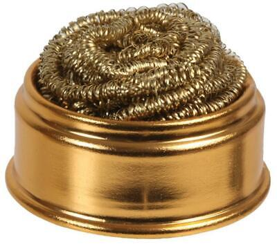 Brass Wool Soldering Tip Cleaning Ball With Dish - DURATOOL • 11.99£