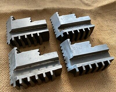 4 JAW CHUCK JAWS..... 20mm WIDE..... SUPER CONDITION. • 4£