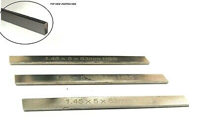 Set Of 3 HSS Spare Parting Blades For Mini Cut Off Tool Holders 6,8, 10 Mm Shank • 25.95£