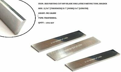 HSS Blades 3/16  X 1  (Wide) X 6  (Long) For Lathe Parting Cut Off & Tool Holder • 29.50£