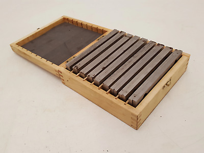 Set Of 18 Milling Setting Bars In Wooden Box 34140 • 52£