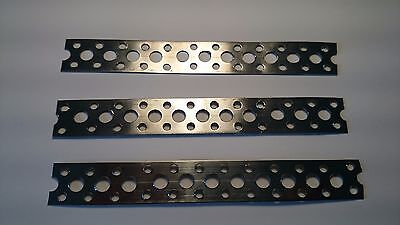 Stainless Steel Metal Punched Perforated Fixing Strip Strap 150x20x0.6 X 3  UK • 3.95£