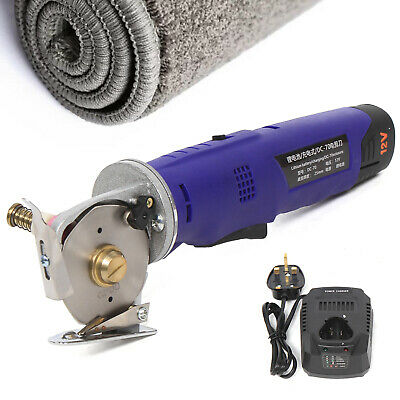 Electric Cloth Cutter Cutting Machine Rotary Blade Fabric Shears Good-resistance • 68£