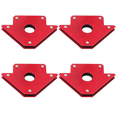 4PCS 50lb Welding Magnet Right Angle Square Holder Soldering Durable Clamp Holds • 16.25£