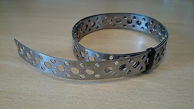 Engineers STAINLESS STEEL Metal Punched Perforated Strip Strap Roll 1M Metre • 5.70£