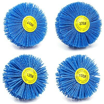 4 Pieces 80x30x6Mm Drill Abrasive Wire Grinding Wheel Nylon Bristle Polishi D6G9 • 14.99£