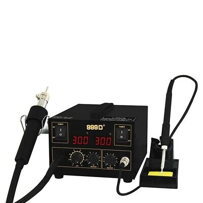 Huakko Digital 999D+ Soldering Stations With Soldering Iron + Hot Air Gun • 69.99£