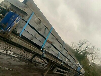 NEW Old Stock Reclaimed Steel Galvanised Rafters 12m Long 457x191x67mm Job Lot • 4,500£