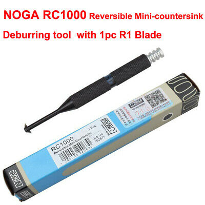New NOGA RC1000 Reversible Mini-countersink Deburring Tool With 1Pc R1 Blade  • 23.95£