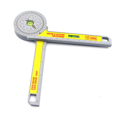 360 Degree Miter Saw Protractor Goniometer Angle Finder High Accuracy Measuring • 9.98£