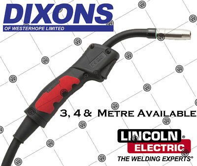 Lincoln Electric MIG 150amp Welding Torch 3 4 5 Metre Euro Connection MB15 MB-15 • 50.49£