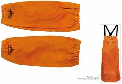 Welders Sleeves Apron Bizweld Cowhide Leather Stitched Protect Welding SW10/SW20 • 33.99£