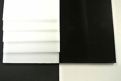 Acetal Flat Black White Engineering Plastic Sheet 2mm-12mm Thick Various Lengths • 12.55£