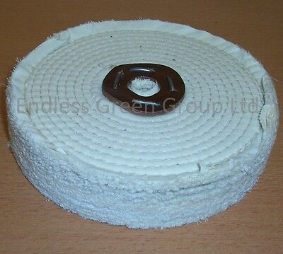 8  Stitched Cotton Buffing Wheel - Clean Polish & Restore  200mm X 40mm  C200/3 • 19.50£