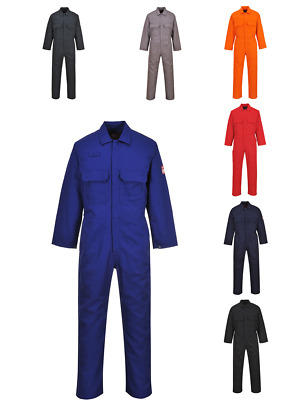 Bizweld Flame Resistant Coverall Welding Boiler Suit Overall S-6XL Portwest BIZ1 • 35.86£