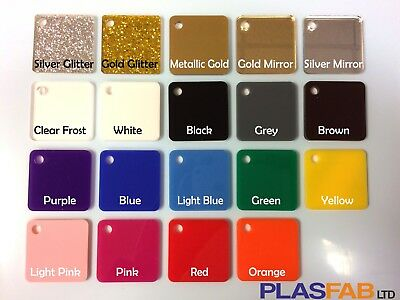 Colour Acrylic Perspex Sheet Plastic 3mm Glitter Gold Rose Mirror Pastel  • 28.99£