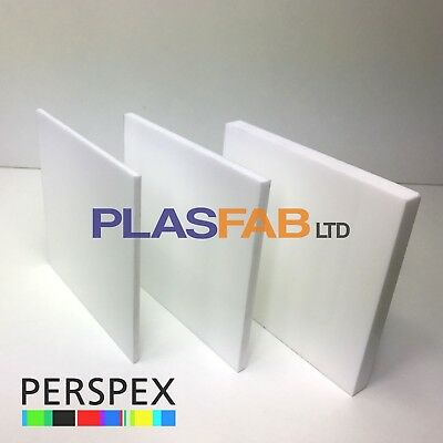 White Acrylic Sheet Perspex 3mm 5mm 10mm Plastic Cut To Size Panel Material Opal • 48.99£