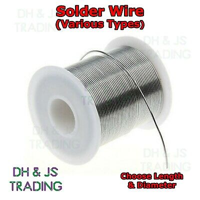 Solder Wire - All Types - Fluxed Core - Hobbyists Electronics Plumbing Soldering • 0.99£