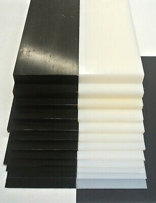 HDPE Flat Black White Engineering Plastic Sheet 1mm-20mm Thick Various Lengths • 17.95£