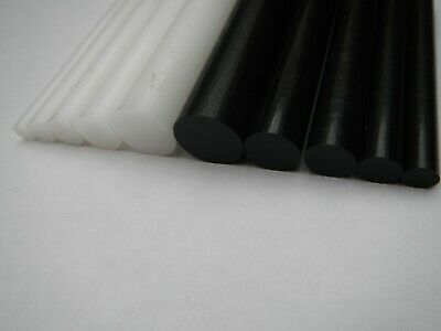 Acetal Rod Black White Delrin Nylon Plastic Round Bar 6mm 8mm 10mm 12mm 22mm 25m • 16£