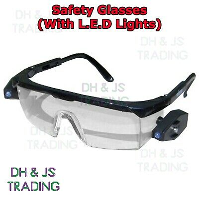 High Quality LED Safety Glasses Electrical Mechanical Plumbing Car Repair L.E.D • 7.95£
