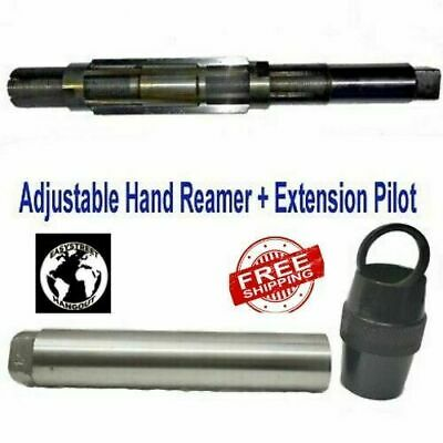 H15 Adjustable Hand Reamer 1-1/2  To 1-13/16  (38.10- 46.03mm) + Extension Pilot • 72.99£