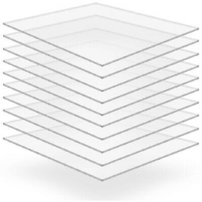 Clear Acrylic Glass Transparent Perspex Sheet Cut To Size Panel Plastic Material • 22.20£
