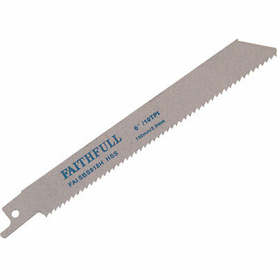 Faithfull S918H Metal Reciprocating Saw Blades 150mm Pack Of 5 • 19.95£