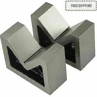 Cast Iron Vee Block Set Of 2 Pieces 4  X 1-1/2  X 3  Inch V Block Without Clamp • 36.12£