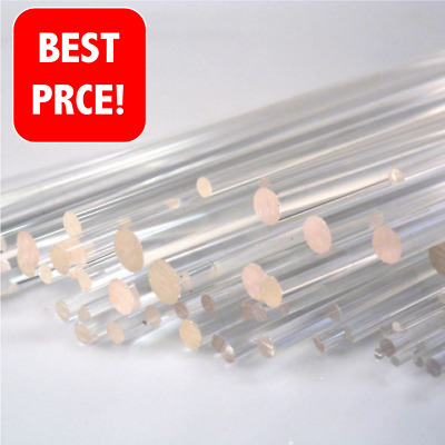 Clear Acrylic Perspex Round Bar Rod 2mm - 50mm Diameter - 50mm - 1000mm Length • 19£