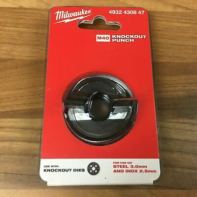 Milwaukee Knockout Die Punches M40 M63 Steel 3.0mm Inox 2.5mm Knock Out Dies • 13.45£