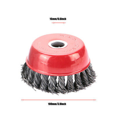 100*16mm Steel Wire Wheel Cup Brush Polishing For Grinder Rotary Tool • 8.09£