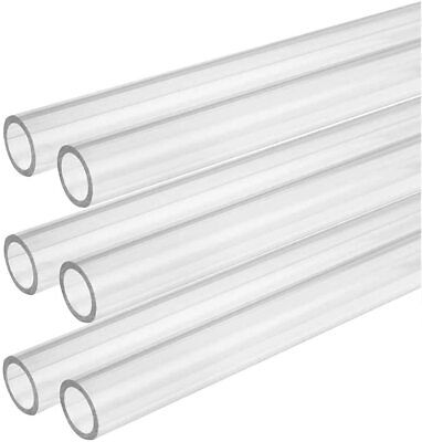 CLEAR ACRYLIC PERSPEX PLASTIC PIPE TUBE BAR HOLLOW - All Sizes - All Lengths • 22£