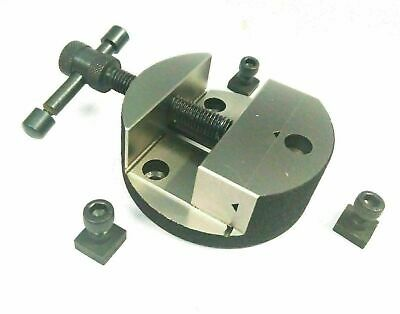 80mm Round Vice For Rotary Table Or Vertical Slide With !! Fixing Tee Nuts !!! • 26.66£