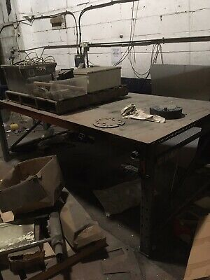 Steel Welding Table / Bench 2500 X 1250  90cm High Used • 75£