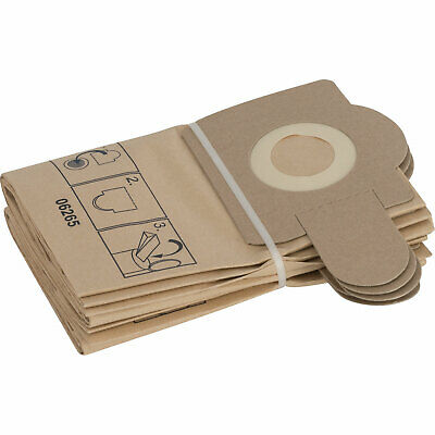 Bosch Paper Filter Bags For PAS 11-21, 12-17 & 12-27F Pack Of 5 • 31.95£