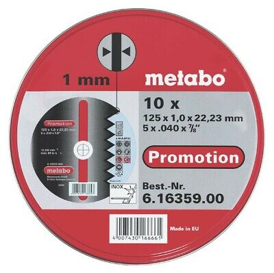 Cutting Disk, 125 Mm Diameter, 1 Mm Bore, 1 Mm Thickness, 13200 Rpm Max Speed, 1 • 24.83£