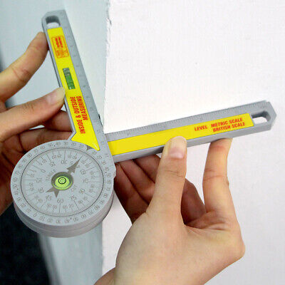 Engineering Pro Miter Saw Protractor Angle Finder Rule Degree Measurement Ruler • 5.45£