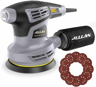 Jellas Orbital Sander, 280W 125MM Sander Machine With 13000RPM 6 Variable Speed • 38.49£