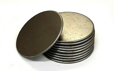 Mild Steel Flat Circle Metal Discs 25mm - 228.6mm In Diameter 1.5mm - 6mm Thick • 5.50£