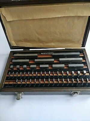 Mitutoyo 516-508 Metric Slip Gauge Set 46 Blocks • 87£