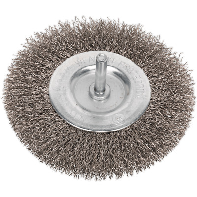 Sealey Flat Stainless Steel Wire Brush 100mm 6mm Shank • 8.95£