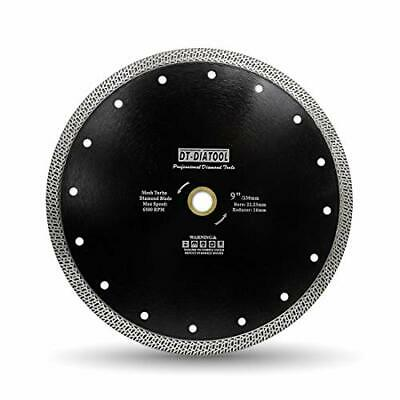 DT-DIATOOL Diamond Saw Blade 9 Inch / 230mm Cutting Disc With Mesh Turbo For • 37.99£