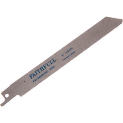 Faithfull S918E Metal Reciprocating Saw Blades 150mm Pack Of 5 • 20.95£