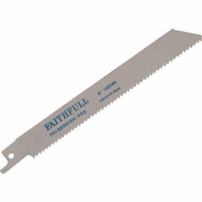 Faithfull S918H Metal Reciprocating Saw Blades 150mm Pack Of 5 • 20.95£