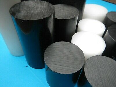 Round Acetal Delrin Rod Black White Billet Bar End 50mm 60mm 70mm 80mm 90mm 100 • 25.99£