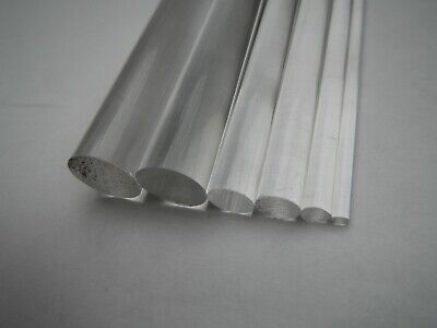Clear Perspex Acrylic Rod Plastic Round Bar 8mm 10mm 12mm 15mm 20mm Up To 1000mm • 21£