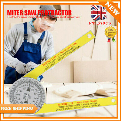 Angle Finder Miter Saw Protractor Measuring Ruler Tool Goniometer Pro Durable AN • 7.95£