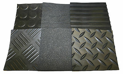 Rubber Matting 3mm Thick Anti Slip Various Sizes & Various Styles Available  • 46.50£